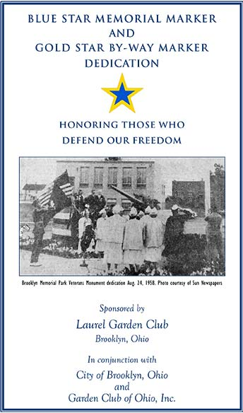 Dedication Program Cover